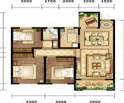 天域,99平米,2+1室2厅1卫-2室2厅1卫-99.0㎡
