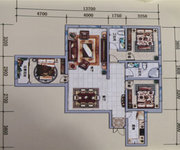D戶型, 3室2廳2衛1廚, 建筑面積約126.59平米