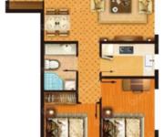 公寓C戶型,約81.76㎡-2室2廳1衛-81.8㎡